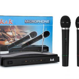 База со два бежични микрофони
