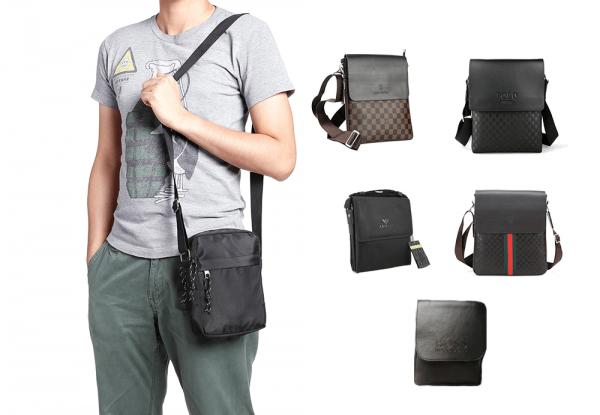 Машки чанти за на рамо од познати брендови (поголеми)